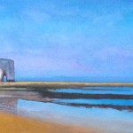 Kingsgate Bay, oil on canvas 139cmx74.5cm