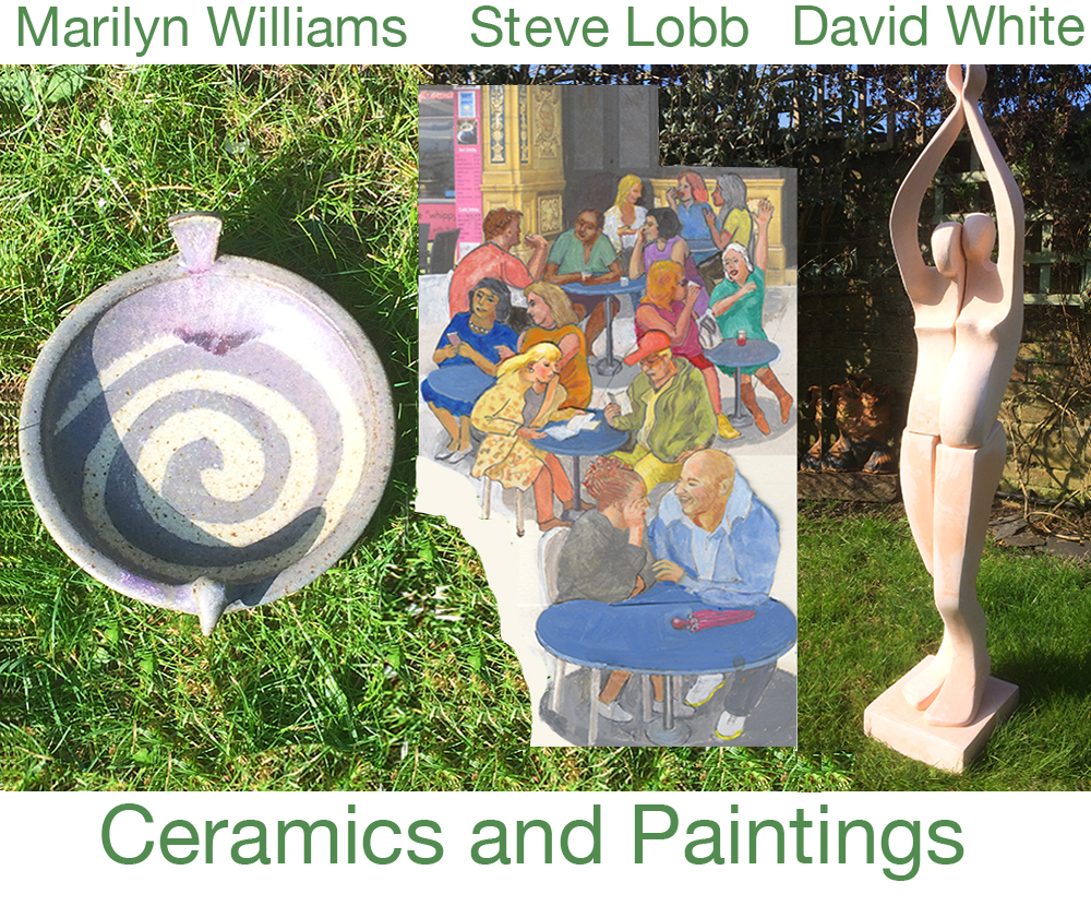 Ceramics and Paintings - Marilyn Williams, David White and Steve Lobb at Pie Factory Margate