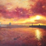 Margate Harbour, oil on canvas 160cmx110cm