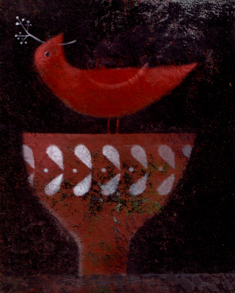 Pie Factory Margate Graham Ward Red Bird with Vessel