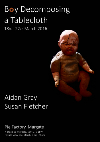 Pie Factory Margate exhibition Boy Decomposing a Tablecloth Aidan Gray Susan Fletcher