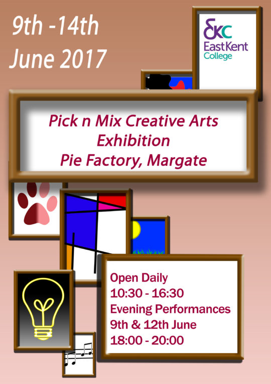 Pie Factory Margate East Kent College art exhibition