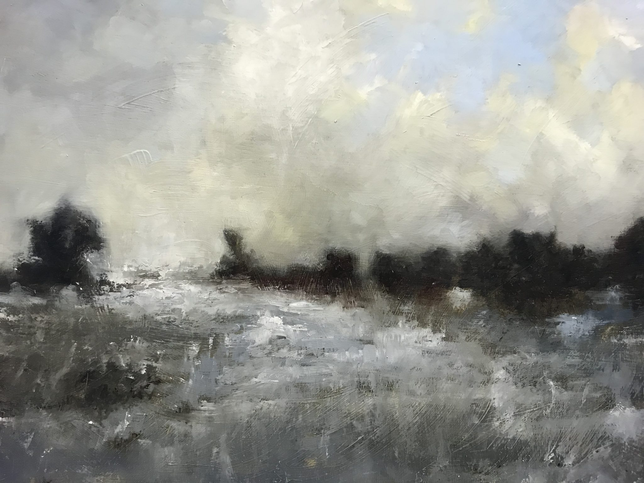 Anthony Giles Winter Morning At Pegwell Bay Pie Factory Margate