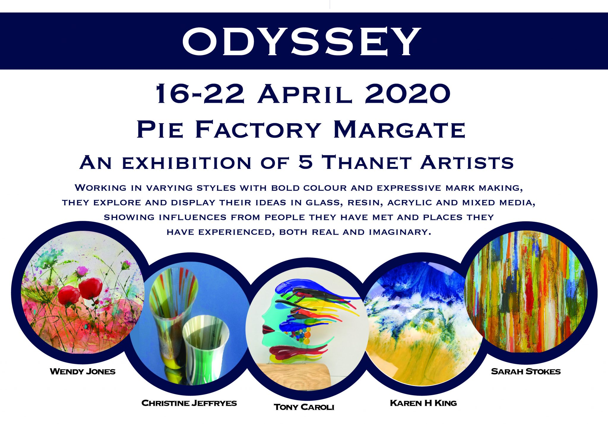 Odyssey exhibition at Pie Factory Margatte
