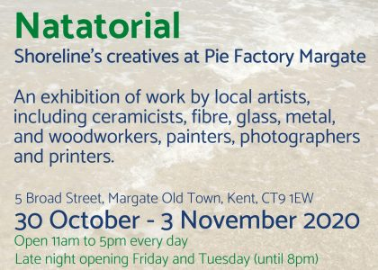 Natatorial exhibition by Shoreline Creatives at Pie Factory Margate